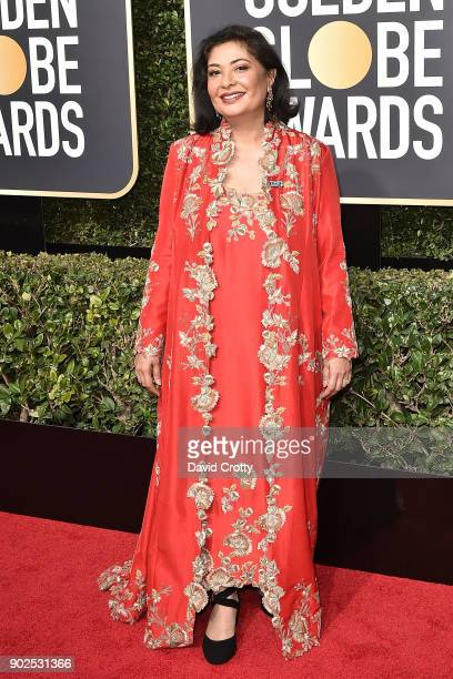 Meher Tatna attends the 75th Annual Golden Globe Awards Arrivals at The Beverly Hilton Hotel on January 7 2018 in Beverly Hills California