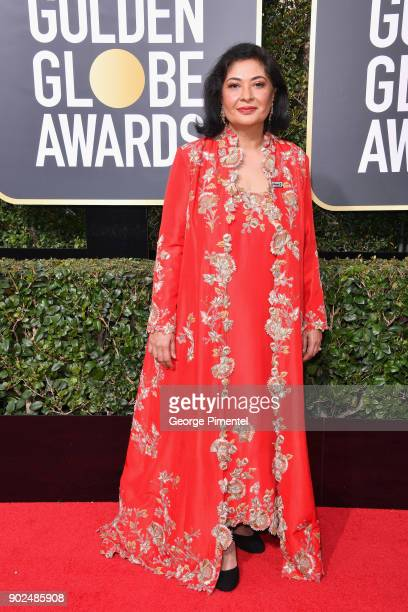 Meher Tatna attends The 75th Annual Golden Globe Awards at The Beverly Hilton Hotel on January 7 2018 in Beverly Hills California