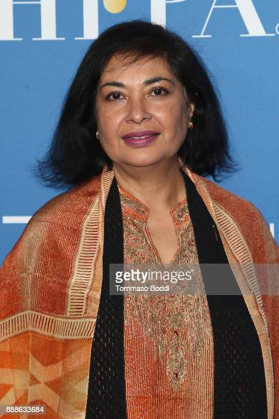 Meher Tatna attends the Hollywood Foreign Press Association Hosts Annual Holiday Party And Golden Globes 75th Anniversary Special Screening at...