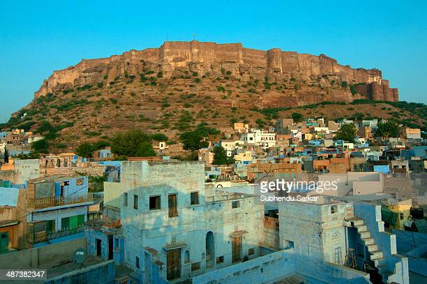 Meherangarh Fort in the blue city of Jodhpur Mehrangarh Fort in Jodhpur Rajasthan is one of the largest forts in India The fort is situated 400 feet...