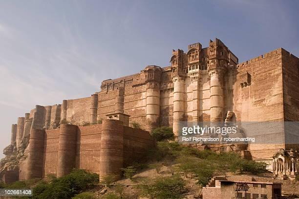 meherangarh fort, jodhpur, rajasthan, india, asia - meherangarh fort stock photos and pictures