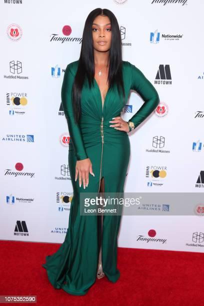 Mehgan James attends Ebony Magazine's Ebony's Power 100 Gala at The Beverly Hilton Hotel on November 30 2018 in Beverly Hills California