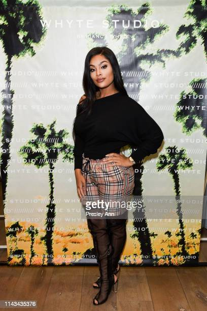 Mehgan James attends launch event for Whyte Studio's Festival Capsule Collection at Top Shop at the Grove on April 17 2019 in Los Angeles California
