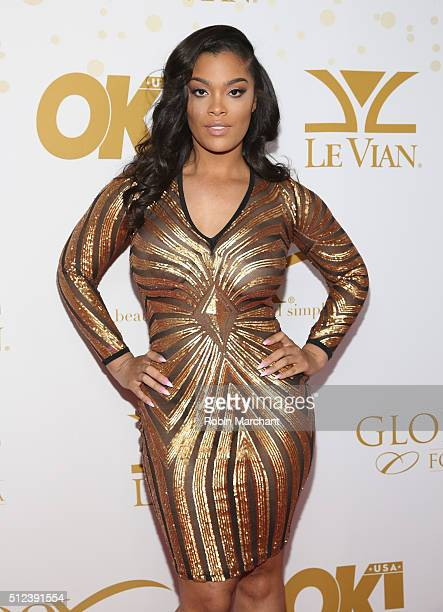 Mehgan James attends OK Magazine's PreOscar Party In Support Of Global Gift Foundation at Beso on February 25 2016 in Hollywood California