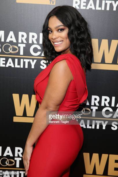 Mehgan James attends the exclusive premiere party for Marriage Boot Camp Reality Stars Season 9 hosted by WE tv on October 12 2017 in New York City