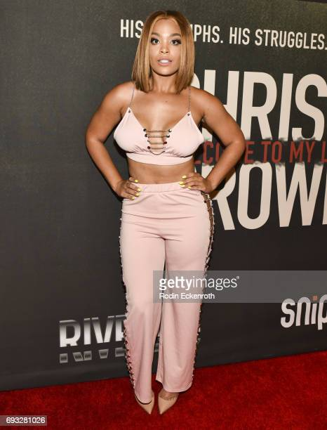 Mehgan James attends the premiere of 'Chris Brown Welcome to My Life' at Regal LA Live Stadium 14 on June 6 2017 in Los Angeles California