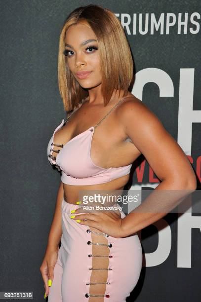 Megan James attends the premiere of Fathom Events' 'Chris Brown Welcome To My Life' at Regal LA Live Stadium 14 on June 6 2017 in Los Angeles...