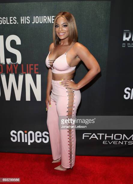 Mehgan James attends the Premiere Of Riveting Entertainment's 'Chris Brown Welcome To My Life' at LA LIVE on June 6 2017 in Los Angeles California