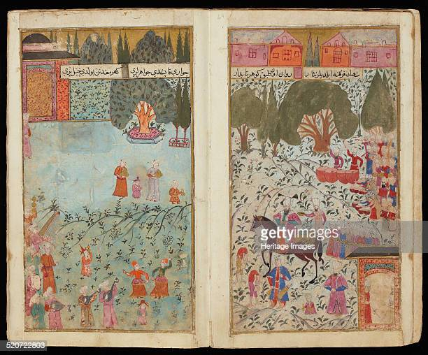 Mehmed III Received in Istanbul From Manuscript Mehmed III's Campaign in Hungary Found in the collection of The David Collection