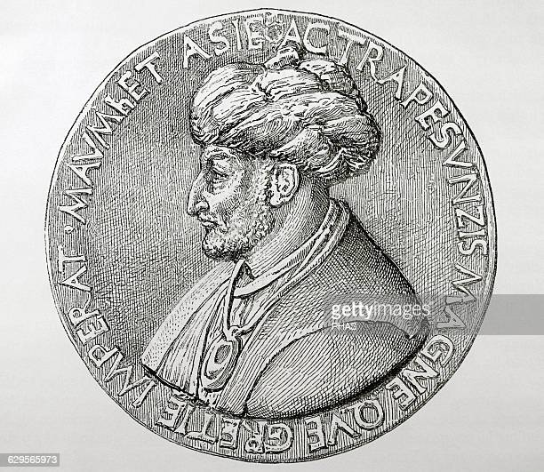 Mehmet III called Fatih Turkish Ottoman Sultan Conquered Constantinople Engraving Historia Universal 1881