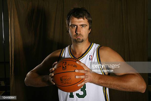 Mehmet Okur of the Utah Jazz during NBA Media Day at the Zions Basketball Center on September 27 2010 in Salt Lake City Utah NOTE TO USER User...