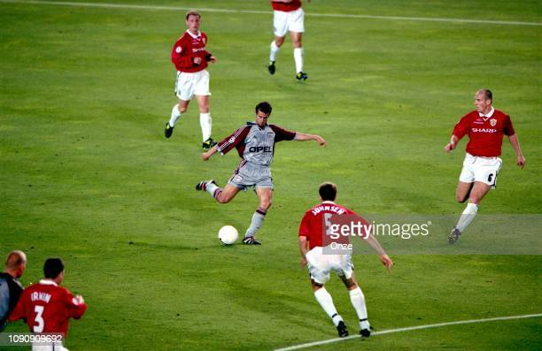 Mehmet Scholl of Bayern Munich during the UEFA Champions league final match between Manchester United and Bayern Munich on May 26 1999 in Camp Nou...