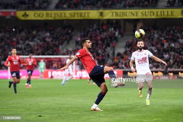 Mehmet Zeki CELIK during the Ligue 1 Uber Eats match between Lille and Brest at Stade Pierre Mauroy on October 23, 2021 in Lille, France.