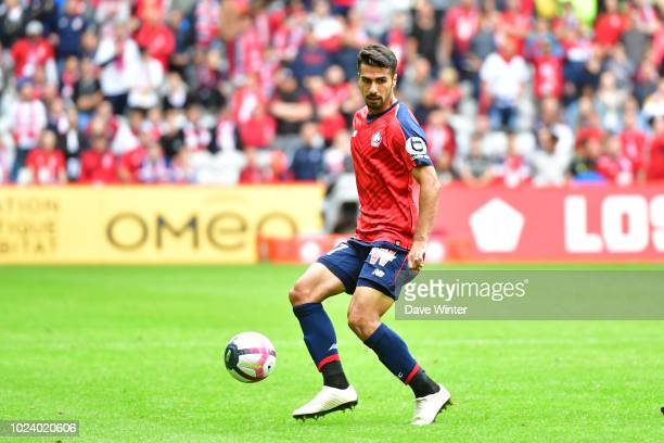Mehmet Zeki Celik of Lille during the Ligue 1 match between Lille and Guingamp on August 26, 2018 in Lille, France.