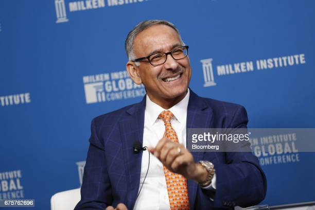 Mehmood Khan covice chairman of PepsiCo Inc reacts during the Milken Institute Global Conference in Beverly Hills California US on Monday May 1 2017...