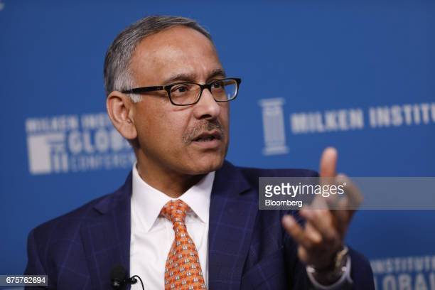 Mehmood Khan covice chairman of PepsiCo Inc speaks during the Milken Institute Global Conference in Beverly Hills California US on Monday May 1 2017...