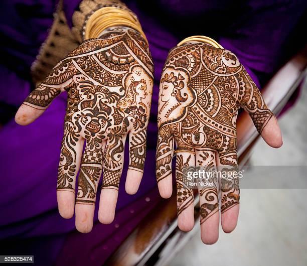 Mehndi covering the hands; ludhiana punjab india