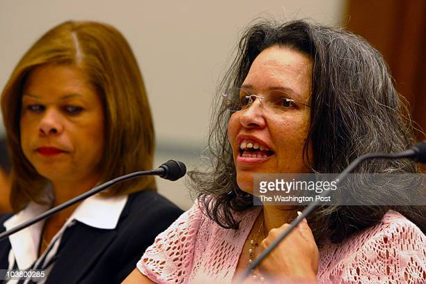 061606 Photographer Susan Biddle /TWP Neg#181418 Washington DC House hearing on problems at District's mental retardation agency Witnesses include...
