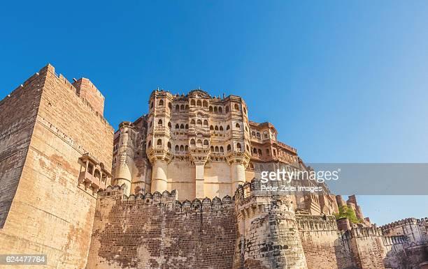 mehrangarh fort in jodhpur, india - meherangarh fort stock photos and pictures