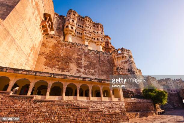 Mehrangarh Fort in the Blue City of Jodhpur, Rajasthan, India