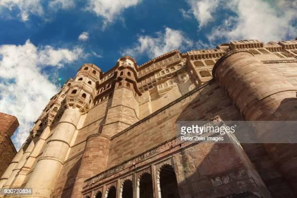 Mehrangarh Fort in the Blue City of Jodhpur, Rajasthan, India