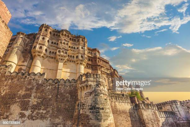 mehrangarh fort in the blue city of jodhpur, rajasthan, india - famous place stock pictures, royalty-free photos & images