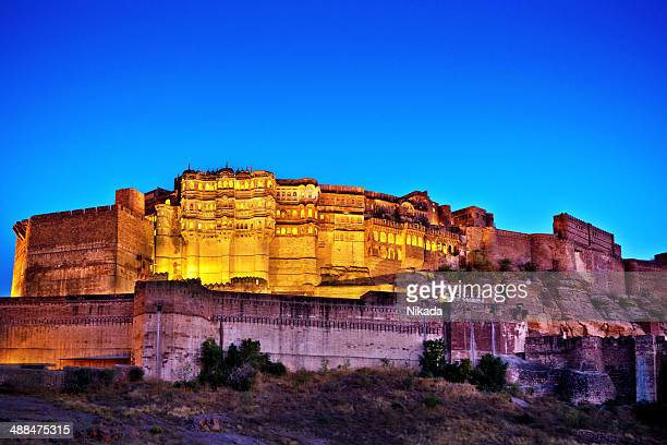 mehrangarh fort, jodhpur, india - fortress stock pictures, royalty-free photos & images