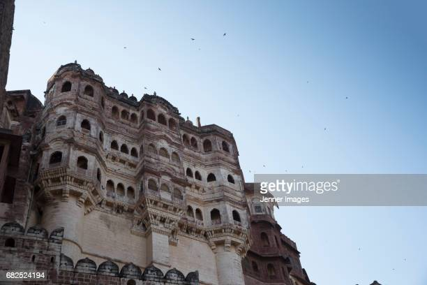 mehrangarh fort, jodhpur, rajasthan, india - meherangarh fort stock photos and pictures
