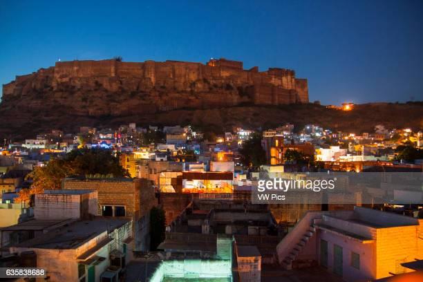 Mehrangarh fort of Jodhpur above the city