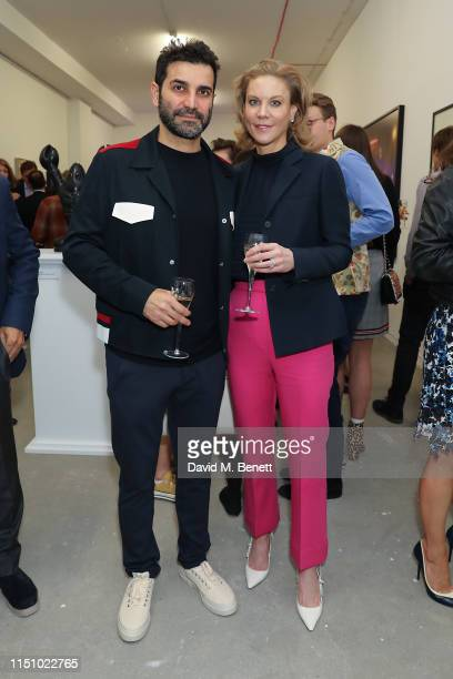 Mehrdad Ghodoussi and Amanda Staveley at the Animal Ball Art Show Private Viewing, presented by Elephant Family on May 22, 2019 in London, England.