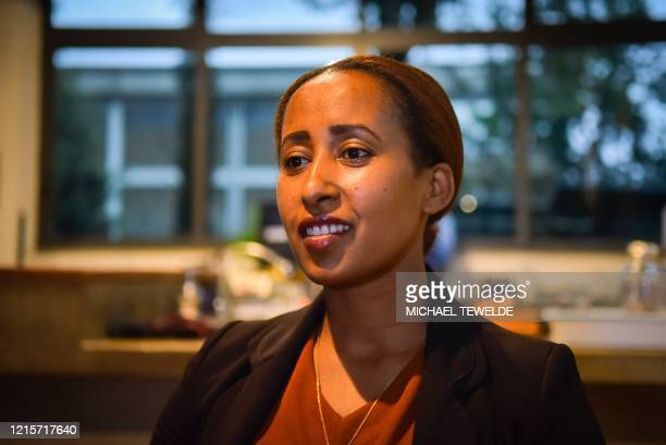 Mehret Eyob manager of Galani Coffee speaks to AFP during an interview at the cafe in Addis Ababa on May 22 2020 The shakeup of the telecoms sector...