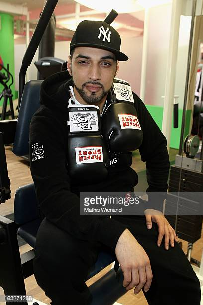 Mehrzad Marashi attends the Offical Weighing And Photocall of 'Das Grosse Sat1 Promiboxen' on March 6 2013 in Dusseldorf Germany