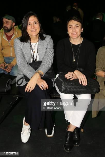 Mehtap Elaidi and Seda Lafci attend the MercedesBenz Fashion Week Istanbul March 2019 at Zorlu Center on March 20 2019 in Istanbul Turkey