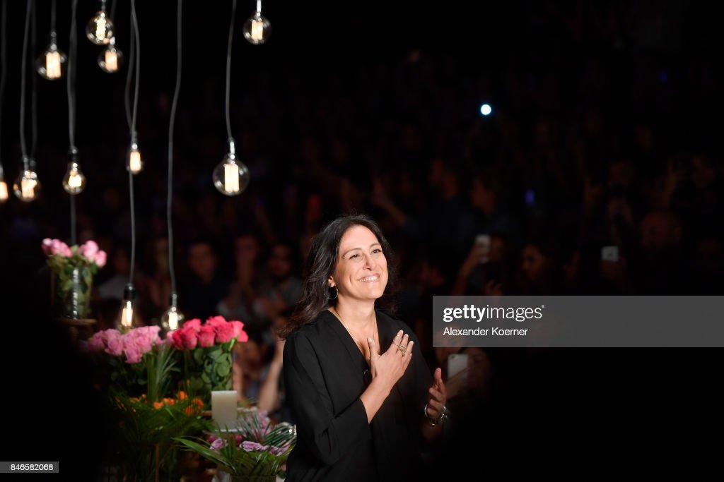 Mehtap Elaidi is applauded on the runway at the Mehtap Elaidi show during Mercedes-Benz Istanbul Fashion Week September 2017 at Zorlu Center on September 13, 2017 in Istanbul, Turkey.