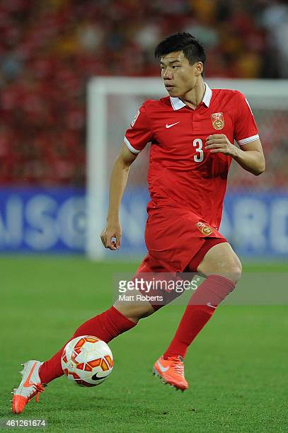 Mei Fang of China PR looks to pass the ball during the 2015 Asian Cup match between Saudi Arabia and China PR at Suncorp Stadium on January 10 2015...