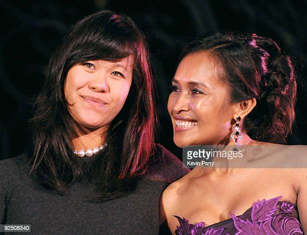 Mei Sze Greene and founder Somaly Mam attend the Somaly Mam Foundation's 2nd annual Los Angeles Gala held at a private residence on September 29 2009...