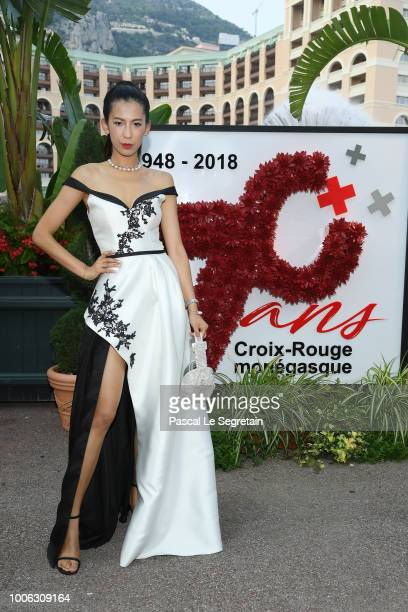 Mei Zhang attends the 70th Monaco Red Cross Ball Gala on July 27 2018 in MonteCarlo Monaco
