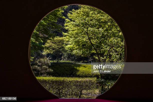 Meigetsuin is a Zen temple in Kamakura in harmony with nature Composed of two gardens one zen dry garden in front and a strolling garden in back...