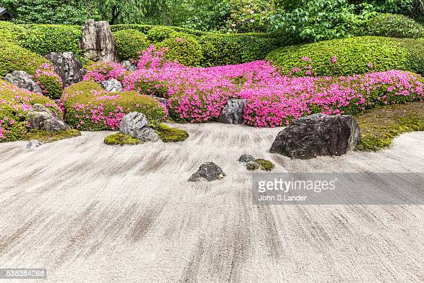 Meigetsuin Zen Garden Meigetsuin is also known as Ajisaidera or Hydrangea Temple since many Hime Ajisai Princess Hydrangea are planted on the grounds...