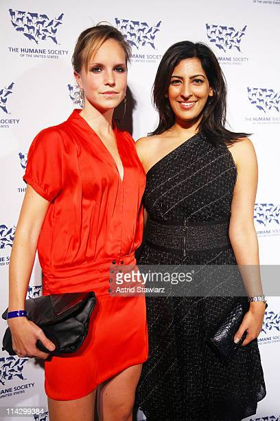 Meije Neitz and Sabeena Uttam attend The Humane Society of the United States & The Art Institute's Fifth Annual Cool vs. Cruel Awards Ceremomy at The...