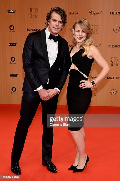 Meijers and Ilse DeLange attend the Bambi Awards 2015 at Stage Theater on November 12, 2015 in Berlin, Germany.