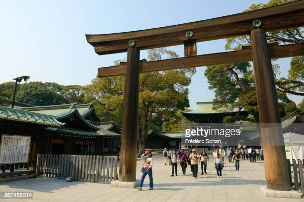 Meiji Imperial Shrine in Tokyo located in Shibuya, and dedicated to the deified spirits of Emperor Meiji and his wife, Empress Shoken on MARCH 17,...