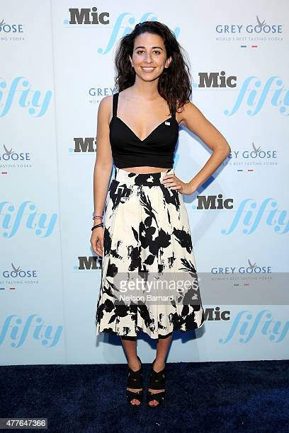 Meika Hollender attends GREY GOOSE Vodka Hosts The Inaugural Mic50 Awards at Marquee on June 18 2015 in New York City
