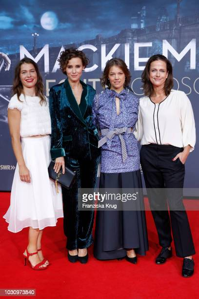 Meike Droste Peri Baumeister Britta Hammelstein and Claudia Michelsen during the 'Mackie Messer Brechts Dreigroschenfilm' premiere at Zoo Palast on...