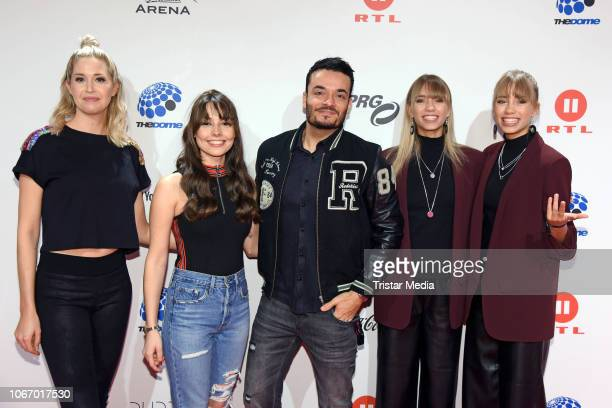 Meike Gehring Julia Krueger Giovanni Zarrella Lisa Mantler and her twinsister Lena Mantler arrive at The Dome 2018 music show on November 30 2018 in...