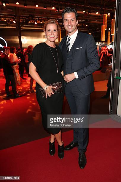 Meike Nevermann and Jonas Grashey Managing Director BurdaStyle during the Tribute To Bambi at Station on October 6 2016 in Berlin Germany