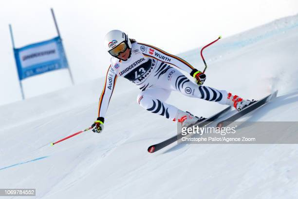 Meike Pfister of Germany in action during the Audi FIS Alpine Ski World Cup Women's Super G on December 8 2018 in St Moritz Switzerland