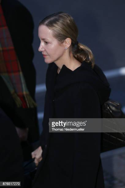 Meike Schlecker daughter of Anton Schlecker founder of the now bankrupt German drugstore chain Schlecker arrives for the day defense and prosecution...