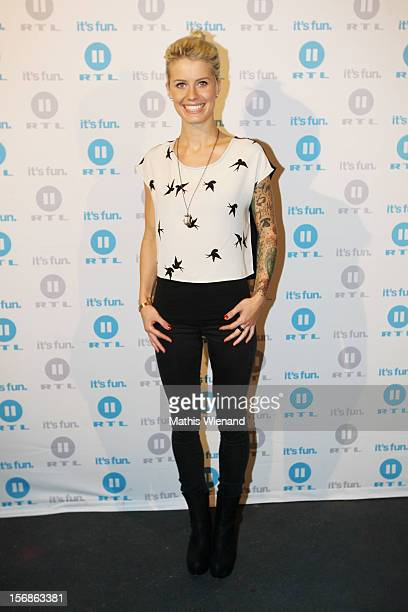 Meike Weber attends the 'Koeln 50667' Press Conference at the Kunstbar on November 23 2012 in Cologne Germany