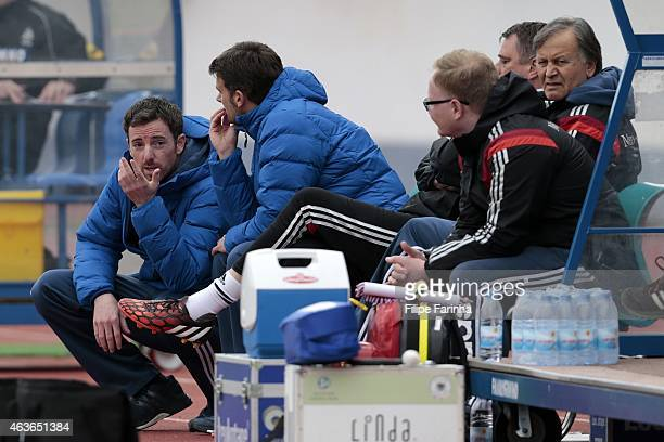 Meikel Schonweitz coach of Germany with his technical team during the U16 UEFA development tournament between Germany and Netherlands on February 16...